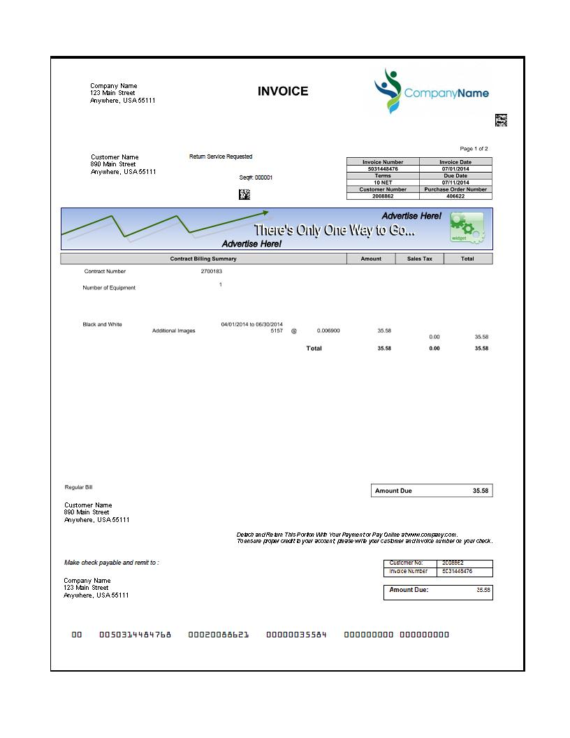 invoice redesign, bill redesign